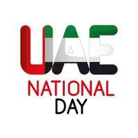 Uae national day vector design