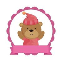 lace with little bear teddy and hat