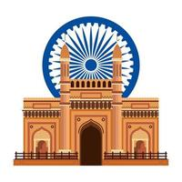 chakra ashoka con palacio puerta india
