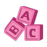 alfabeto bloques juguetes bebé iconos vector