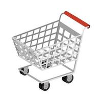 cart shopping transportation isolated icon vector