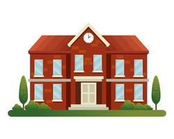 school building facade education icon vector