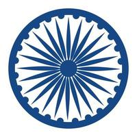 ashoka chakra indio emblema icono vector