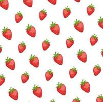 fresh strawberries fruits pattern background vector