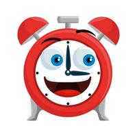 alarm clock kawaii comic character vector