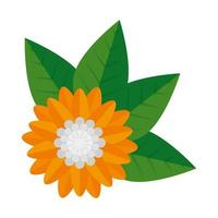 flower hindu decorative isolated icon vector