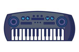 sintetizador, instrumento musical, aislado, icono vector