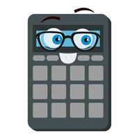 Calculadora matemáticas kawaii personaje de cómic