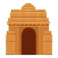 indian gate arch monument icon vector