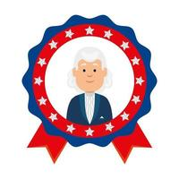 Usa president man inside seal stamp vector design