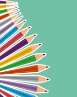 set of colors pencils school vector