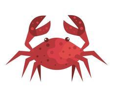 cangrejo, animal marino, aislado, icono vector