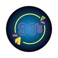 nineties sign retro style neon light