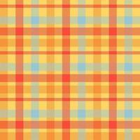 patrón de vector transparente de color naranja tartán