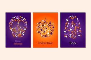 Happy Halloween Design Element For Poster, Card