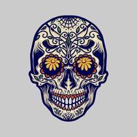 sugar skull for dia de los muertos vector
