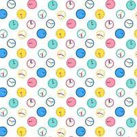 reloj de pared, vector, seamless, patrón