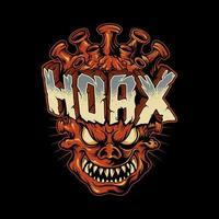 Monster Corona Hoax Zombie vector
