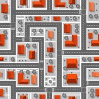 vista superior del plan de la ciudad. patrón de repetición sin fisuras. vector