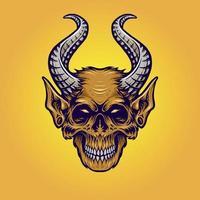 Monster Horn Monkey Illustration vector