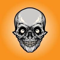 Angry Skull Head vector