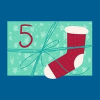 regalo festivo de navidad desde arriba ilustración vectorial plana vector