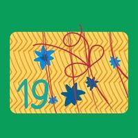 Ilustración de vector plano de caja de regalo de año nuevo