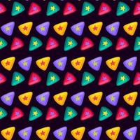 Colorful Triangle with Star Inside Flat Pattern vector