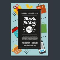 black friday template flyer campaign promo vector