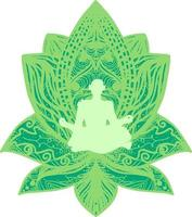 Fitness, yogi flat silhouette vector