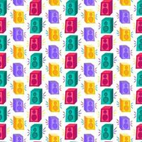 Stereo system flat seamless pattern vector