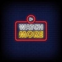 Watch More Neon Signs Style Text Vector