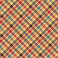 patrón de vector transparente de color rojo a cuadros