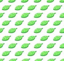 hojas verdes patrón de vector de color transparente