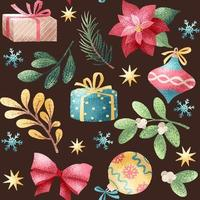 Holiday watercolor style seamless pattern vector