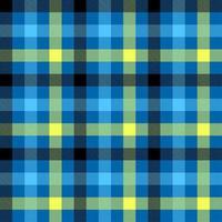 patrón de vector transparente de color azul tartán