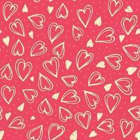 Seamless hearts pattern vector