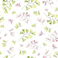 Seamless watercolor foliage pattern vector