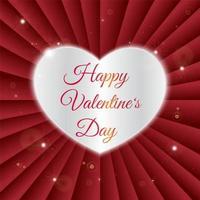 Happy Valentine Day laser cut design vector