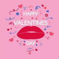 feliz día de san valentín ilustración estilizada vector