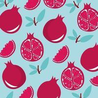 Cute pomegranates pattern vector