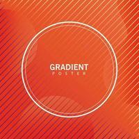 orange geometric vivid background with circular frame vector