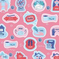 New normal pattern background vector