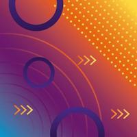 orange and purple colors geometric vivid background vector