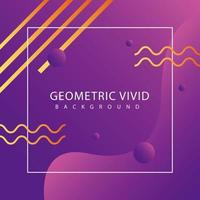 purple geometric vivid background with square frame vector