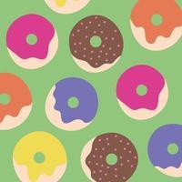 cute kawaii donuts pattern background