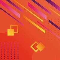 orange color geometric vivid background vector