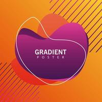 orange geometric vivid background with abstract frame vector