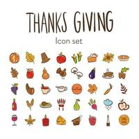 bundle of fourty thanksgiving day icons vector