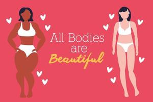 Women with different body types vector
